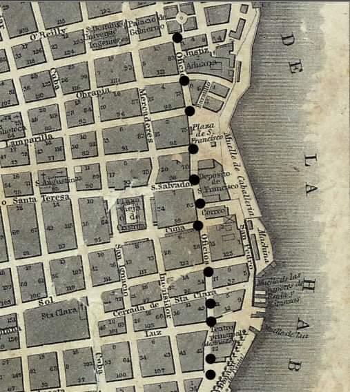 Calle Oficios - La Habana (1849)