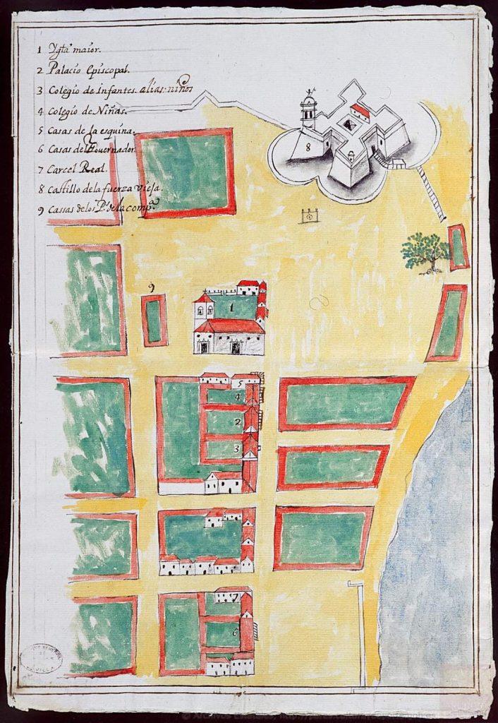 Calle Oficios (Plano de Juan Síscara - 1691)