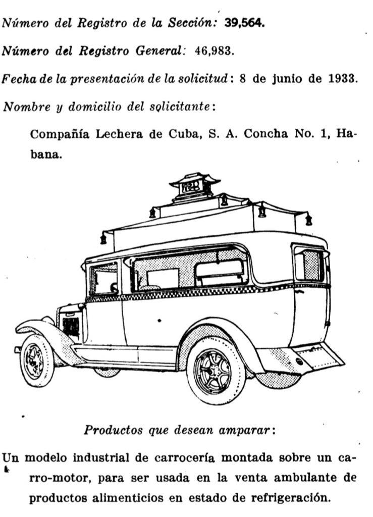 Carrito del Helado La Lechera Cuba
