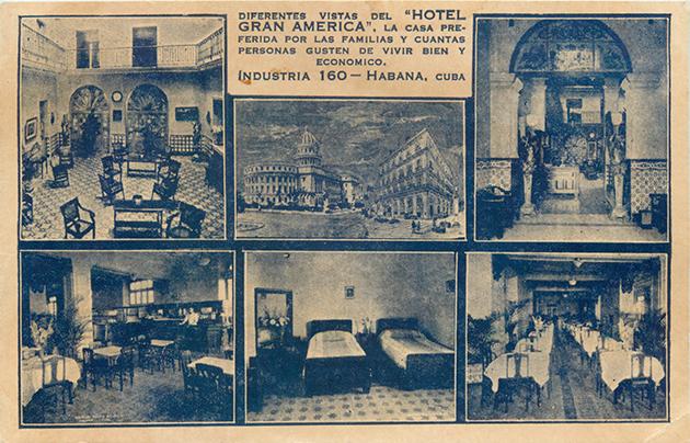 Publicidad del hotel Gran América de La Habana