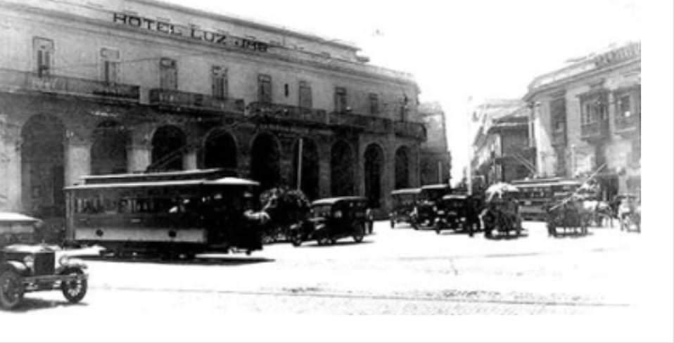 Hotel Luz (antiguo hotel Mascotte) en la década de 1920