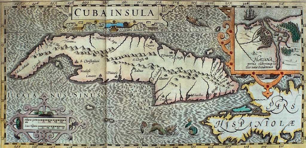 Mapa Habana Mercator 1609