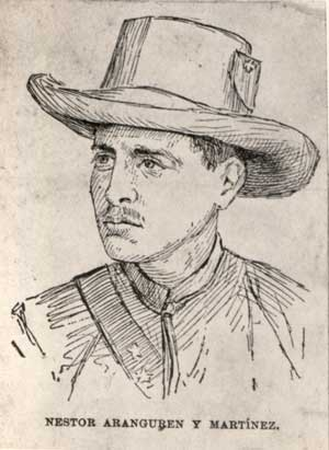 Néstor Aranguren Coronel del Ejército Libertador cubano