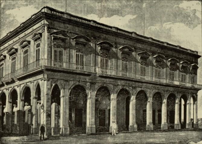 Palacio de Villalba o de los Condes de Casa Moré a finales del siglo XIX
