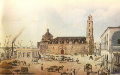 La Fuente de los Leones en la Plaza de San Francisco de Asís de La Habana