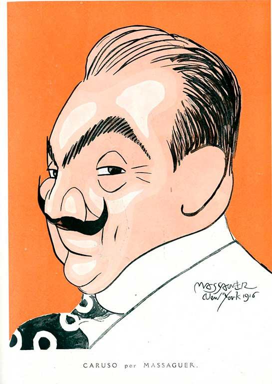 Enrico Caruso por Conrado Massaguer