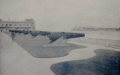 La cortina de Valdés, cañones para custodiar a la Alameda de Paula