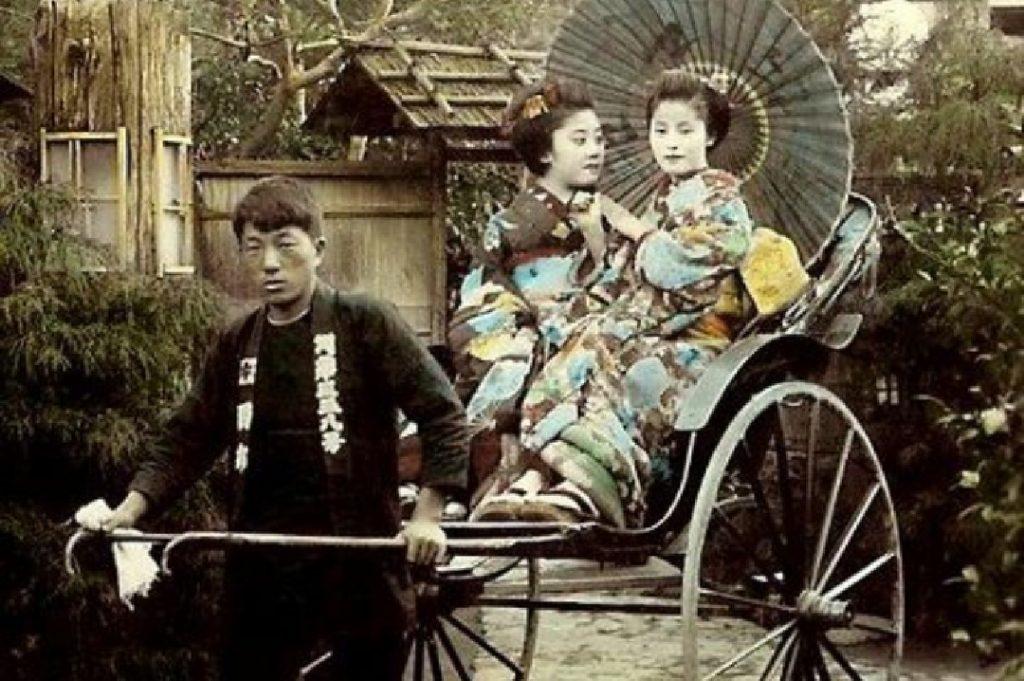 jinrikisha japonés antecedente lejano del bicitaxi habanero