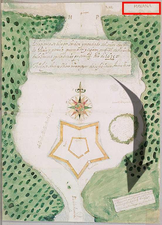 mapa habana-chorrera 1635