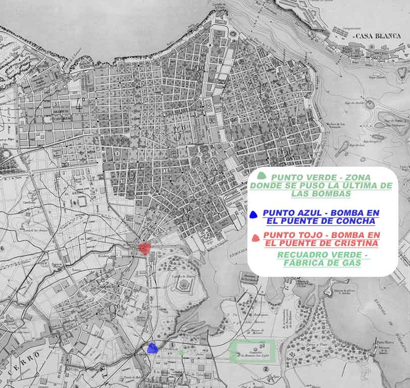 mapa de pichardo a color 1881 bombas