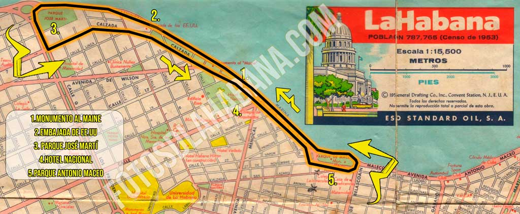 mapa esso habana 1956 track F1 werb