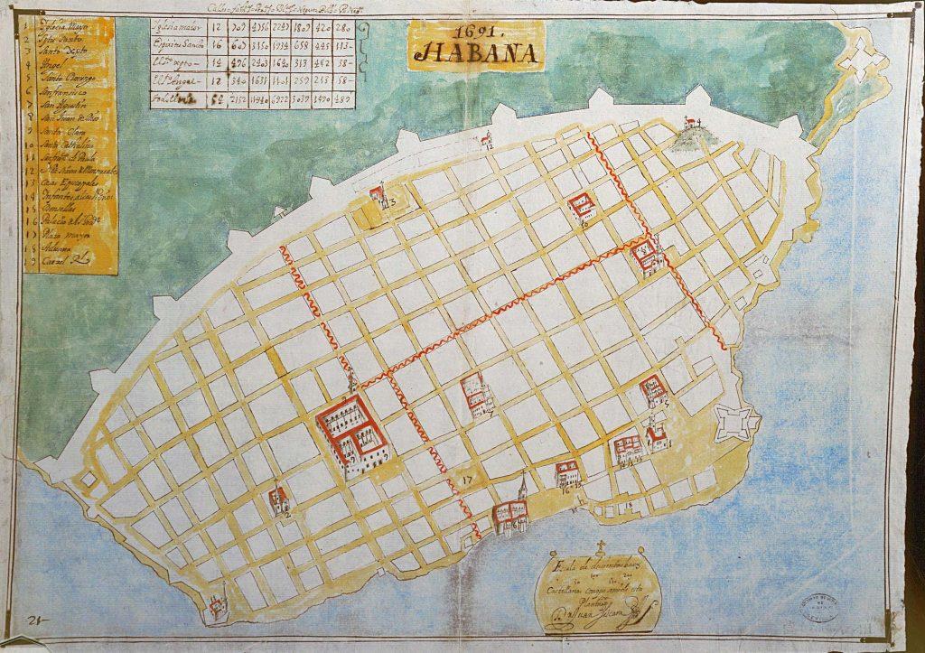 mapa habana 1691