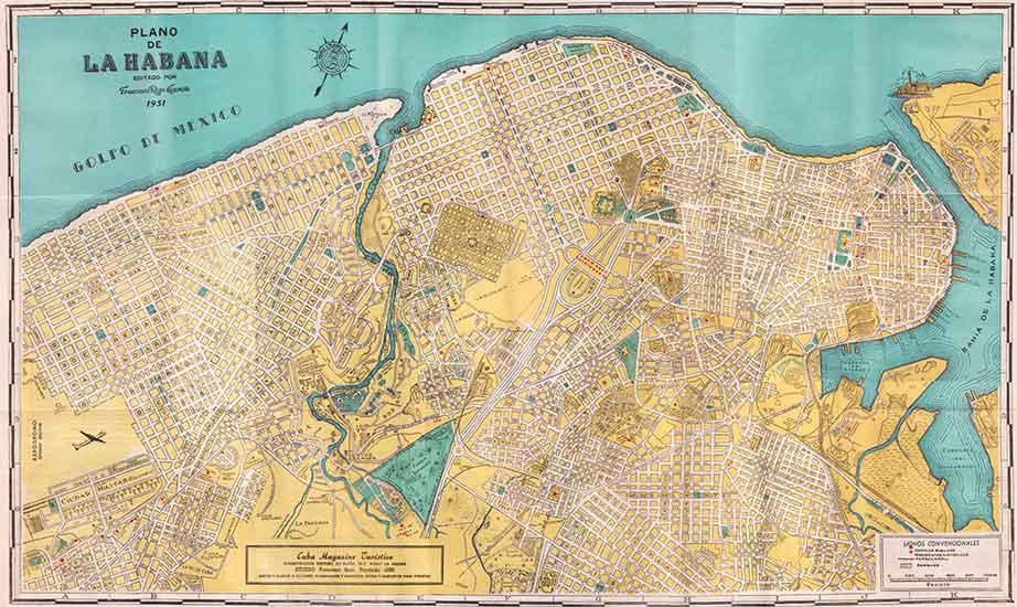 mapa habana 1951