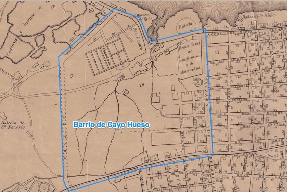 Barrio de Cayo Hueso Habana Plano de 1866