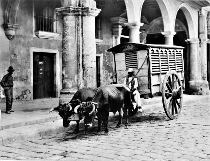 Carro de la carne en La Habana