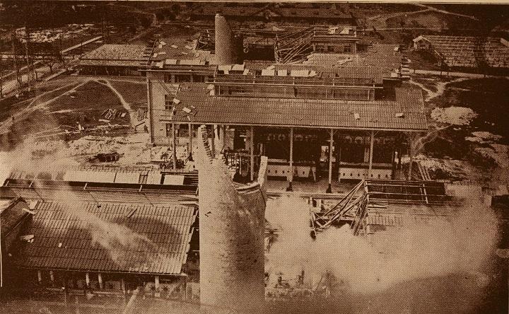 Central Hershey destruido por el Ciclon del 26