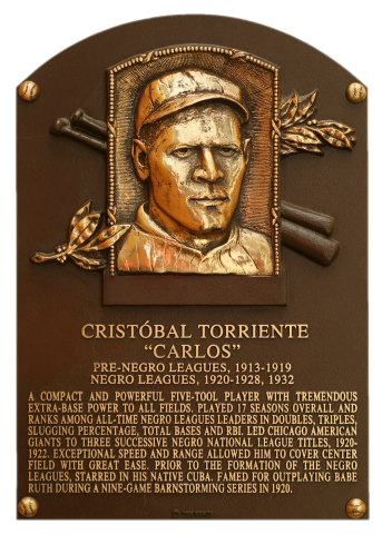 Cristóbal Torriente, Hall of Fame