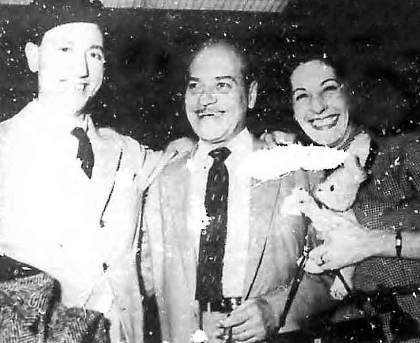 Renato Carosone en La Habana con su esposa y Don Galaor