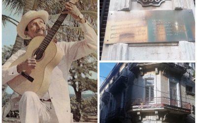 Gervasio 658: Aquí vivió Joseíto Fernández cantor de la Guantanamera