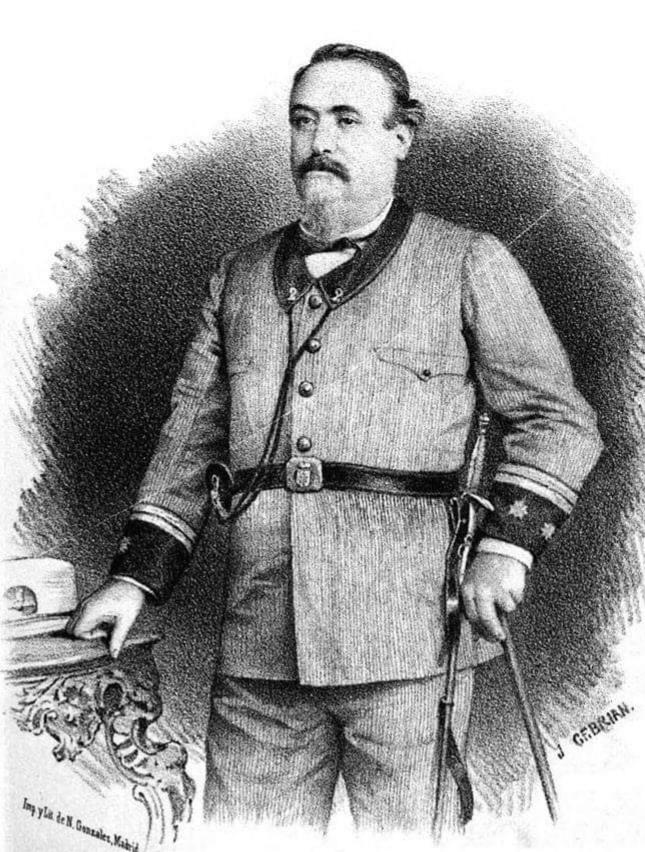 Julián Álvarez con el uniforme del Cuerpo de Voluntarios