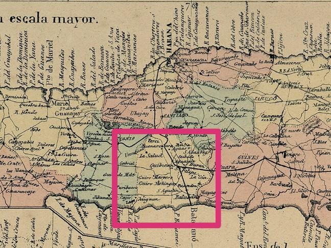Jurisdiccion de Bejucal en 1853 Plano
