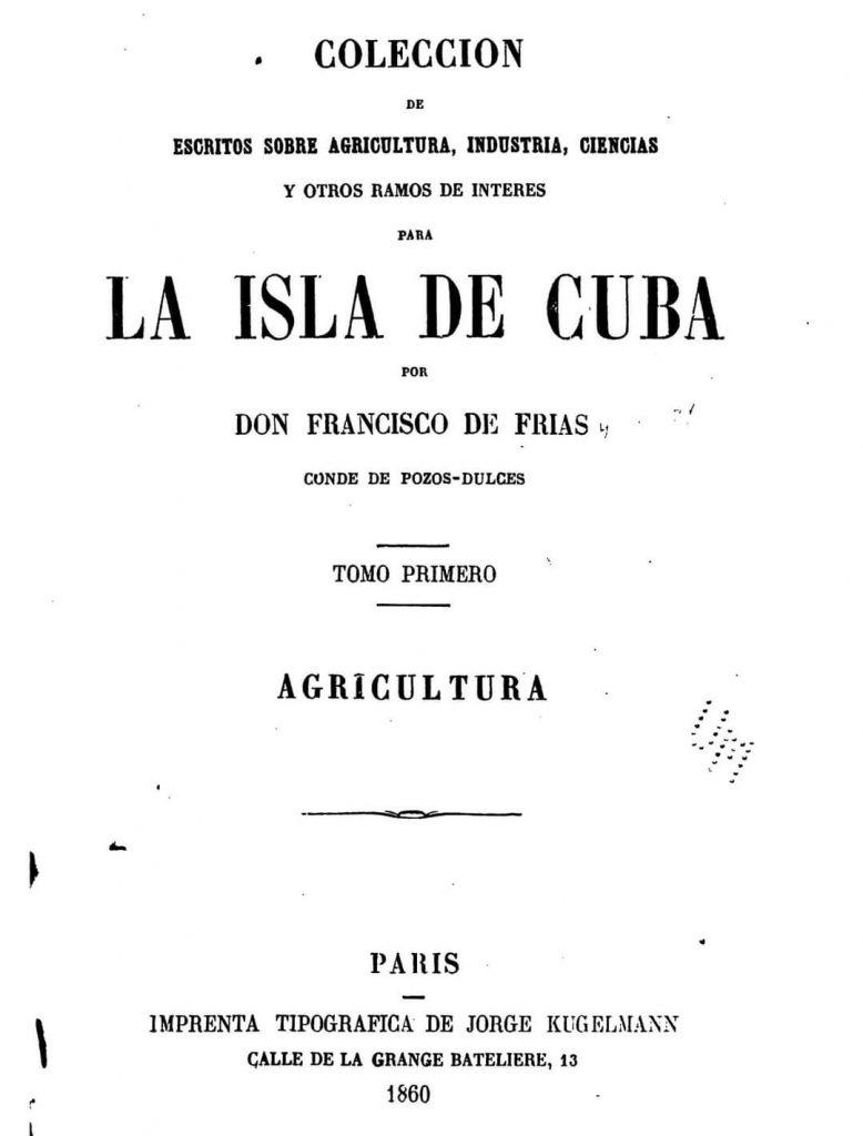 Libro sobre agricultura del Conde de Pozos Dulces