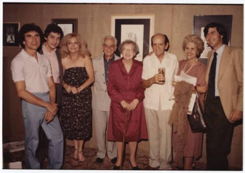 Lydia Cabrera Reynaldo Arenas y Enrique Labrador Ruiz en 1984