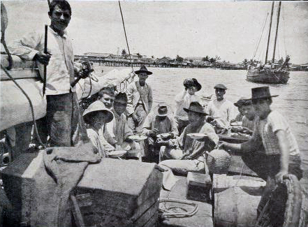 Pescadores de esponjas en Surgidero de Batabanó