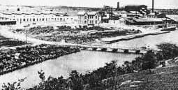 """Vista de la Fábrica de Cemento """"El Almendares"""" que sería propiedad de el gallego Pote."""