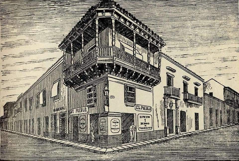 Casa de Salvador Zapata Habana Grabado