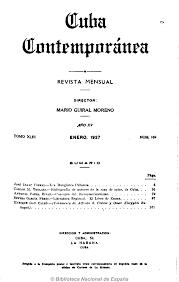 Revista Cuba Contemporánea. Revistas de la Habana