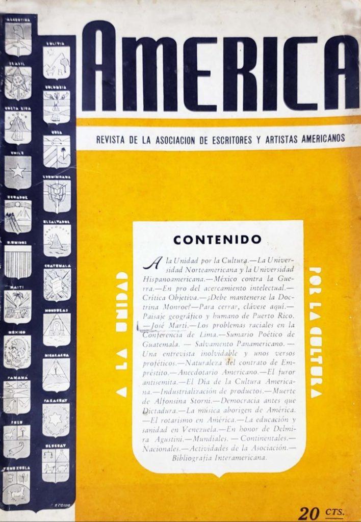Revista América. Revistas de la Habana