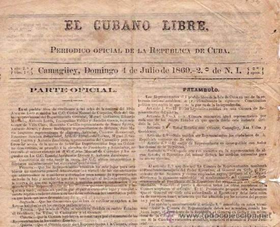 Imagen del Periodico EL Cubano Libre