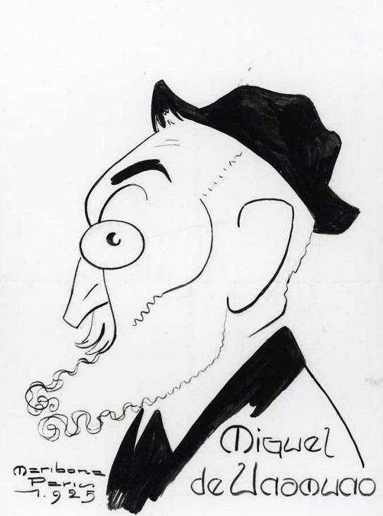 Miguel de Unamuno Caricatura Armando Maribona
