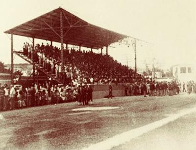 Estadio Palmar de Junco, donde se efectuó el primer juego oficial de béisbol cubano