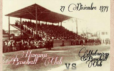 Béisbol cubano, crónica textual del 1er juego oficial