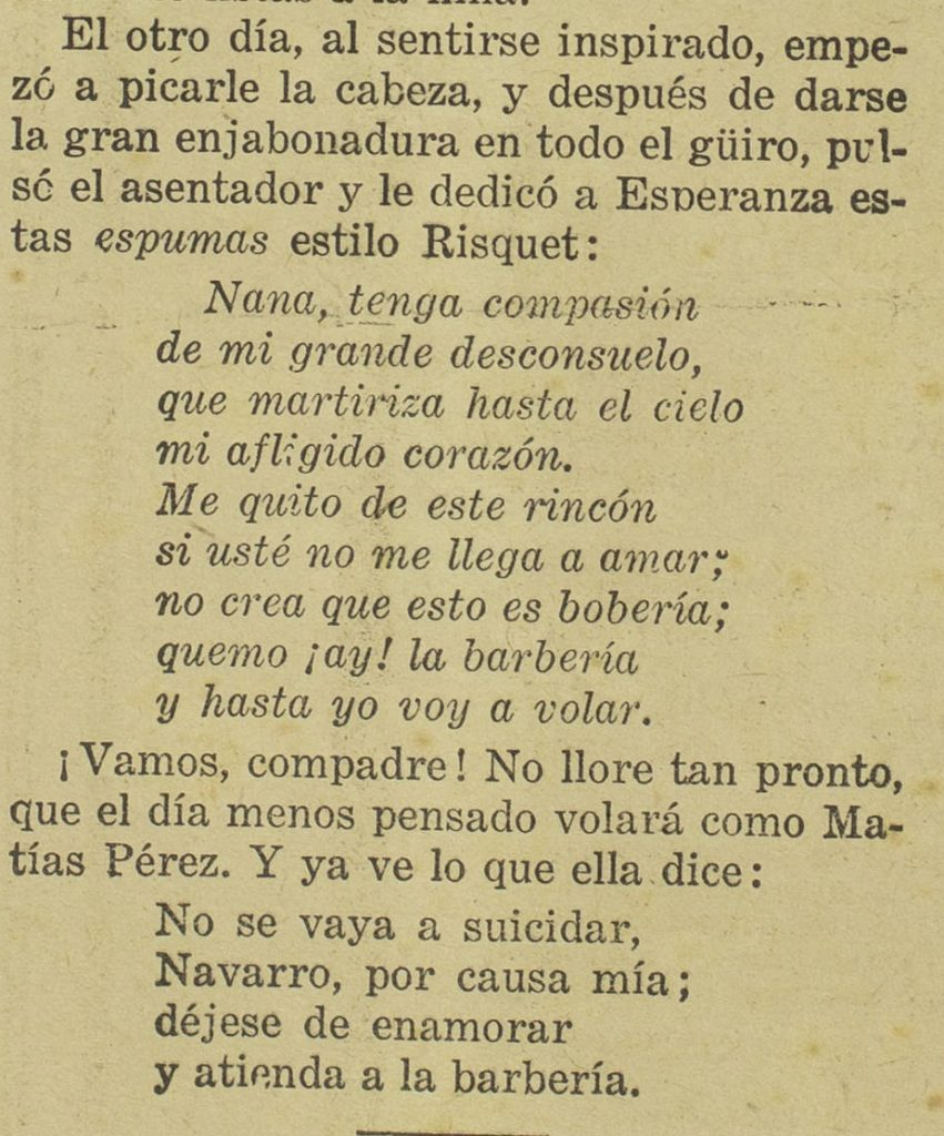 Matías Pérez copla