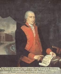 Capitán General Luis de las Casas, pariente de Carlos Luis de Urrutia