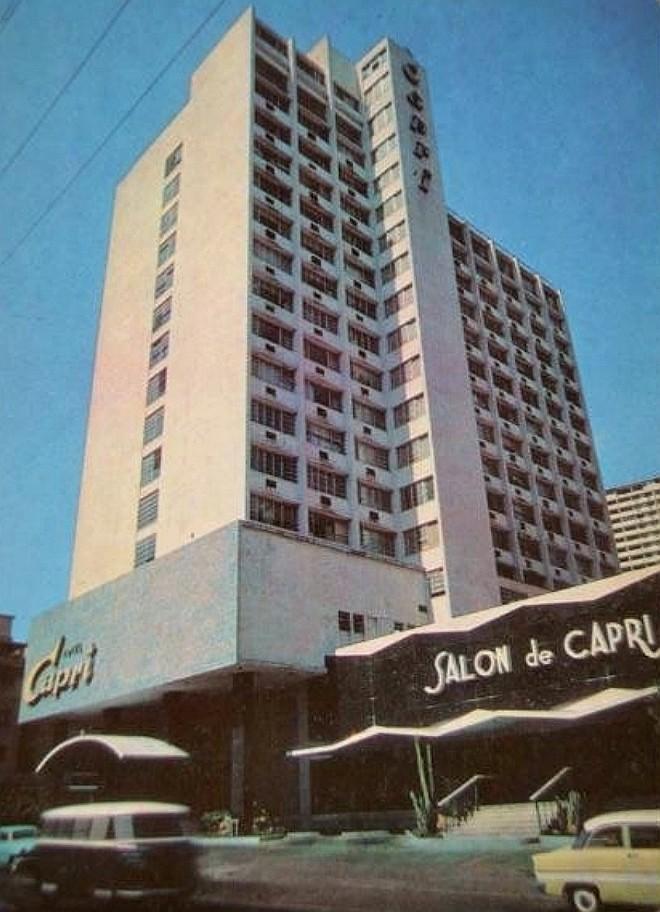El hotel Capri se construyó en la parcela que ocupara el hotel Golden Garden