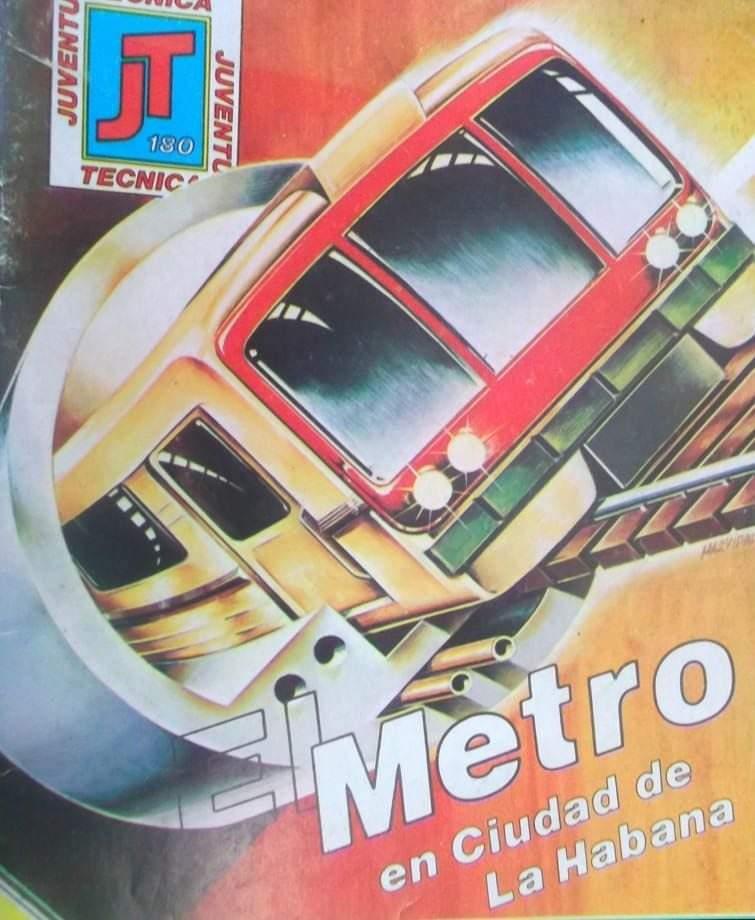 Portada de la revista Juventud Técnica alusiva al Metro de La Habana