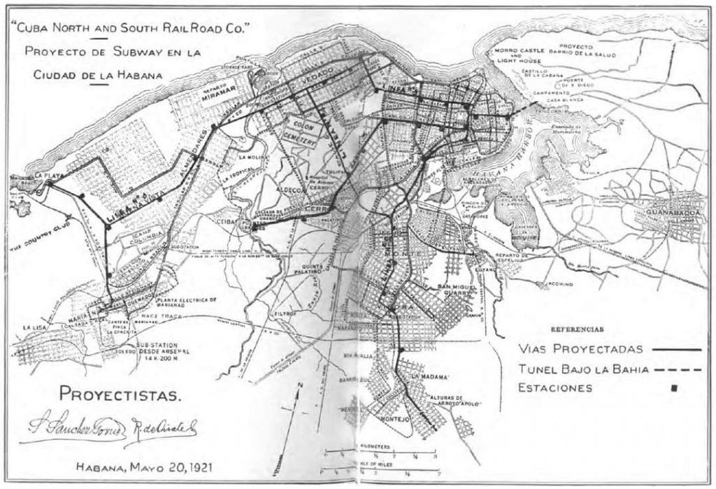 Plano del Metro de La Habana Cuba