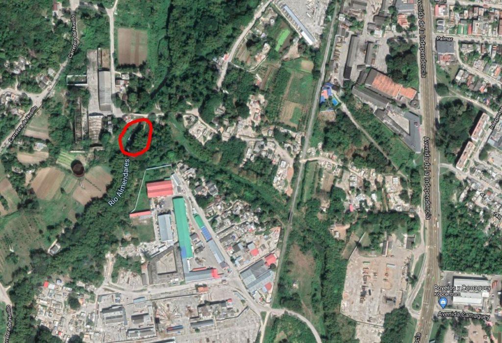 imagen aproximada de la represa el husillo
