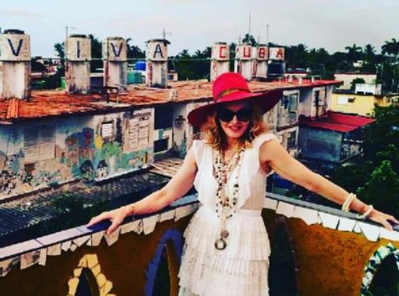 Madonna en La Habana Cuba