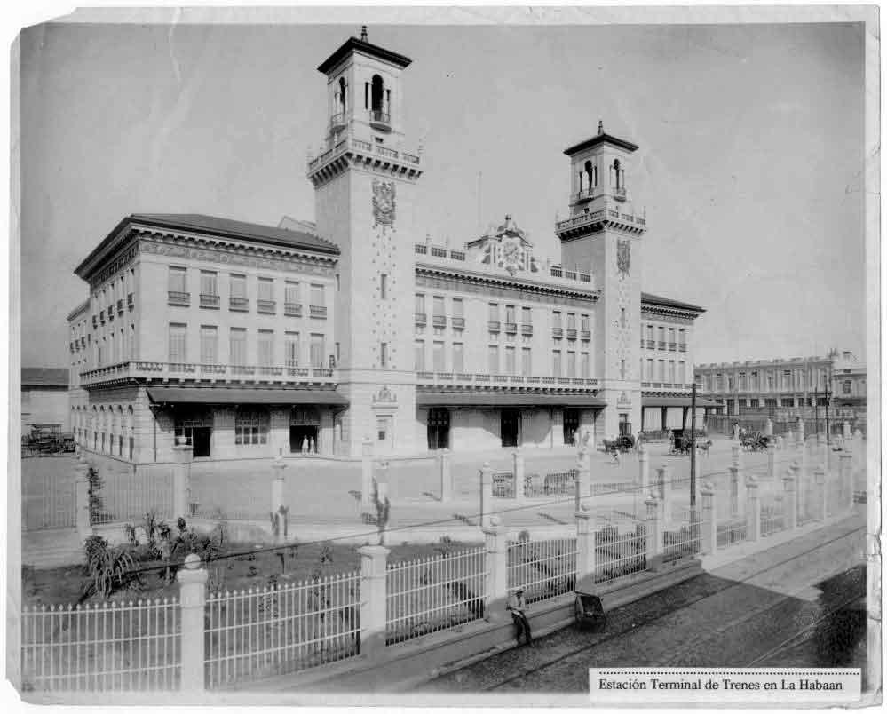 La flamante estación Central de Trenes de La Habana, inaugurada el 30 de noviembre de 1912