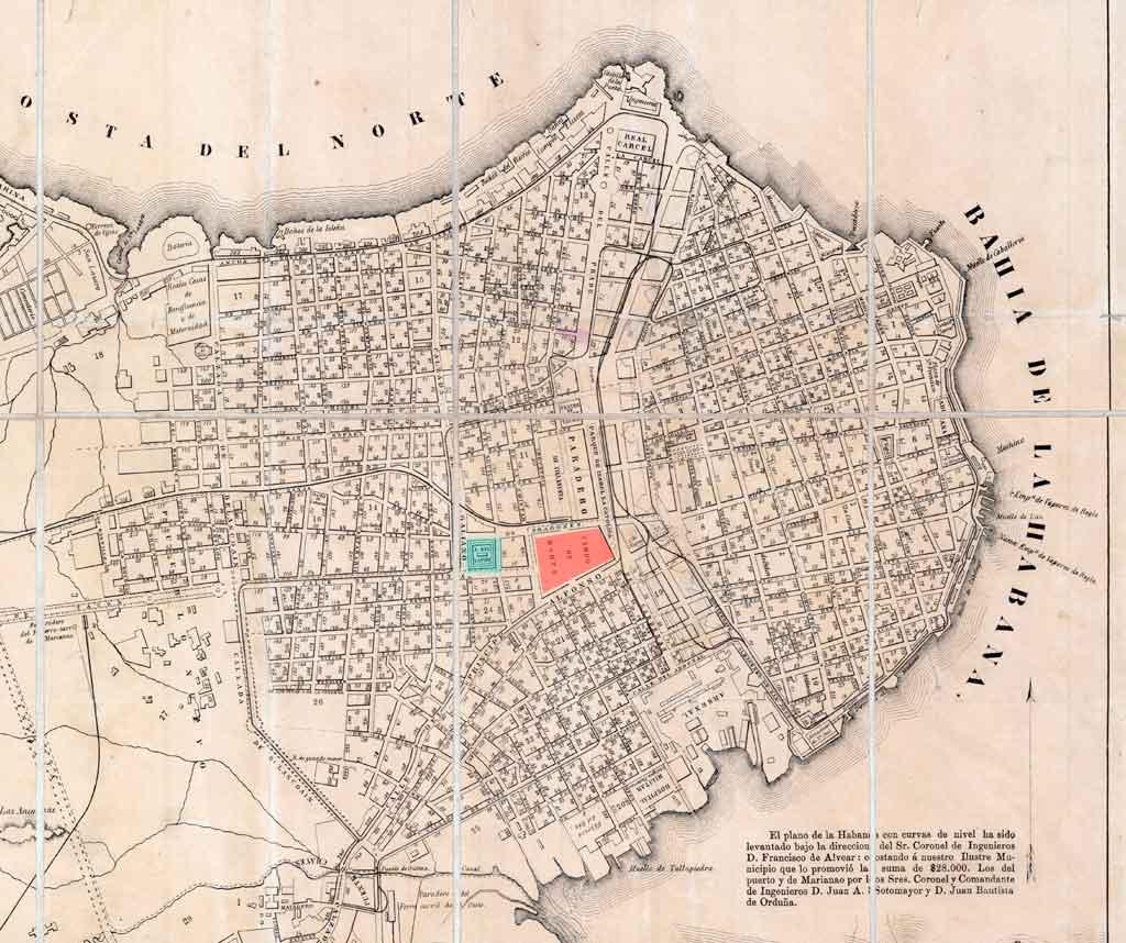 mapa 1867 plaza del vapor