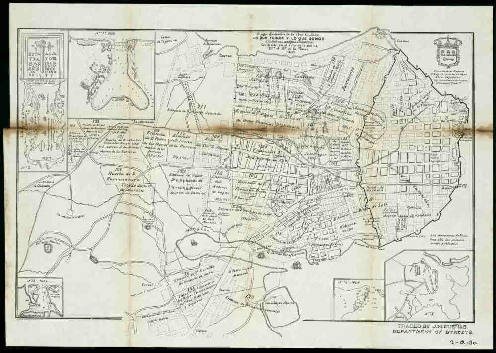 Mapa de lo que fuimos y lo que somos 1857