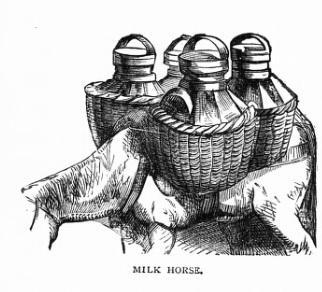 leche lechero caballo tinaja