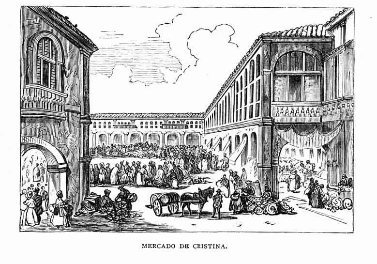 mercado de cristina litografía