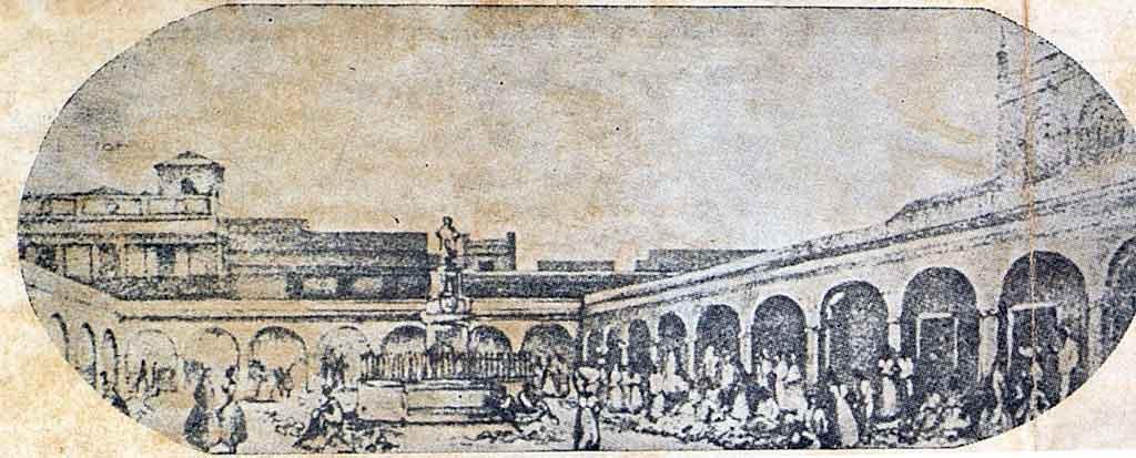 mercado de cristina litografia interior
