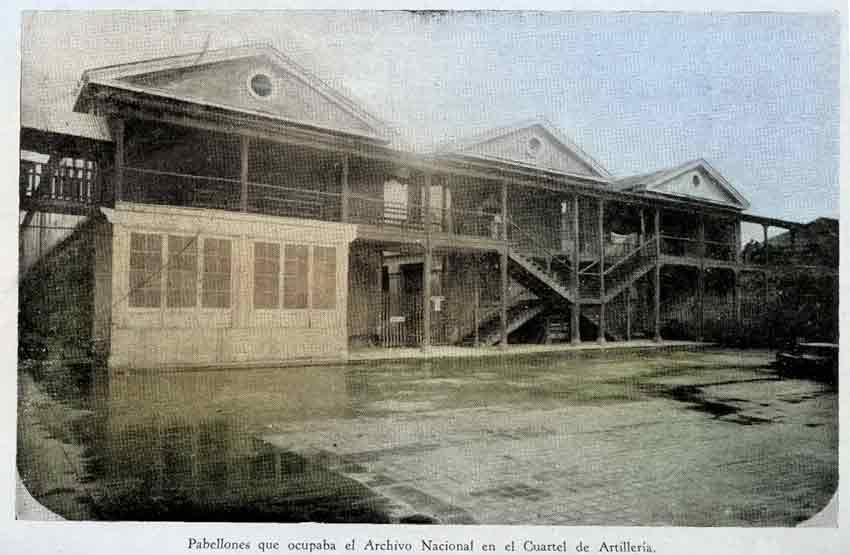 pabellones-que-ocupaba-el-archivo-nacional-en-el-cuartel-de-artilleria